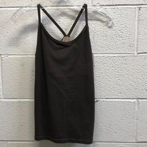 Lululemon brown tank, sz 8, 61145